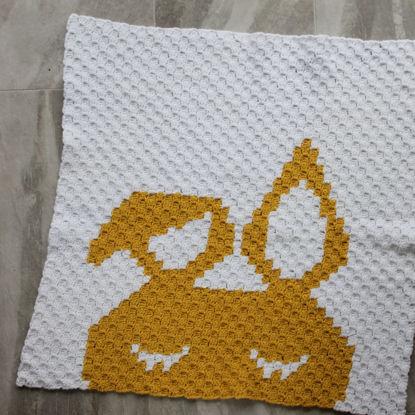 Picture of Bunny Handmade Baby Blanket