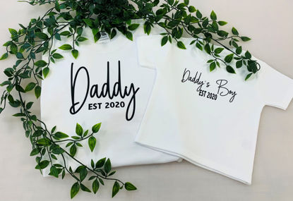 Picture of 'Daddy EST' and 'Daddy's Boy EST' T-Shirt Sets