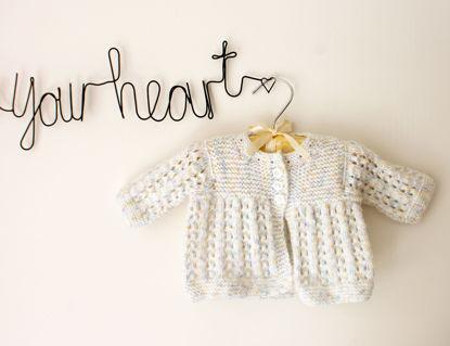 Picture of Newborn Hand Knitted Cardigan- Lemon
