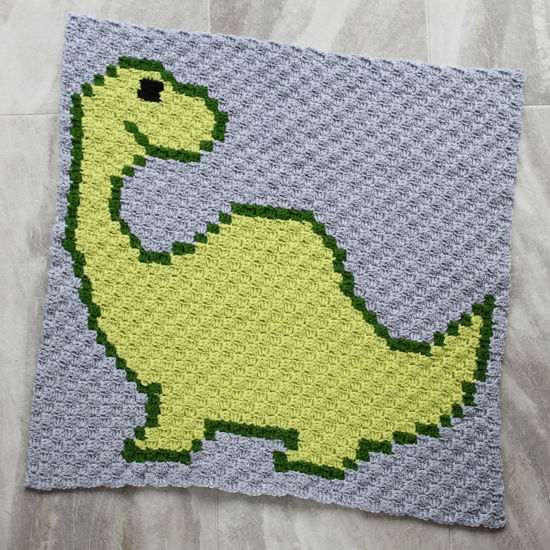 Picture of Dino Handmade Baby Blanket