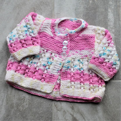 Picture of Newborn Hand Knitted Cardigan - Pink