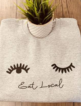 Picture of 'Eat Local'  Breastfeeding Sweater