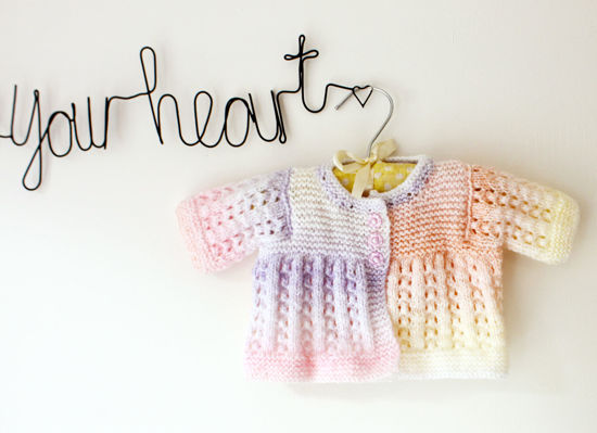 Picture of Newborn Hand Knitted Cardigan- Rainbow