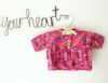 Picture of Newborn Hand Knitted Cardigan- Bright Pink