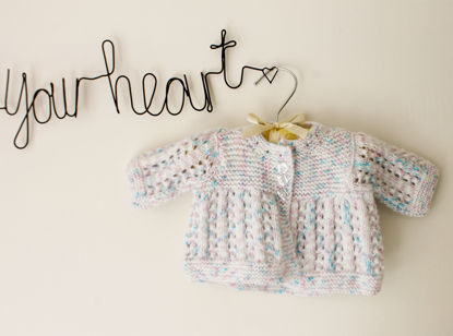 Picture of Newborn Hand Knitted Cardigan- Blue