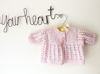 Picture of Newborn Hand Knitted Cardigan- Pink Mix