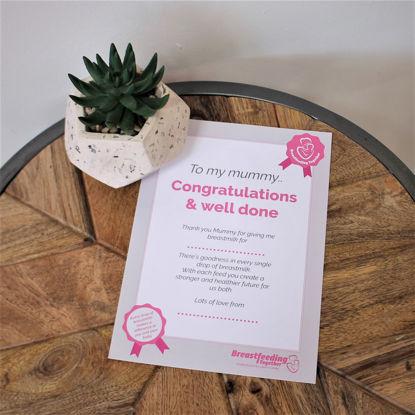 Picture of Congratulations Certificate A5