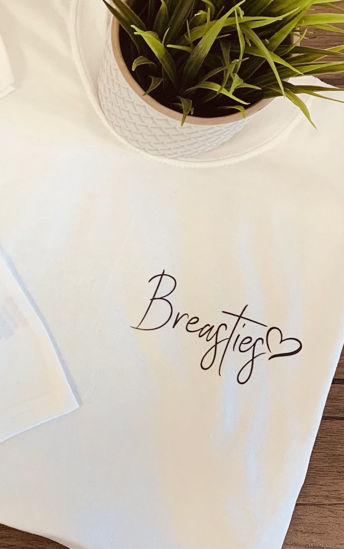 Picture of 'Breasties' Mum and Baby T-Shirt Set